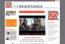 The Resistance Fitness Loft website