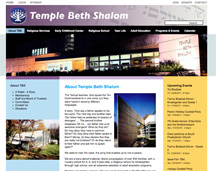 Temple Beth Shalom website